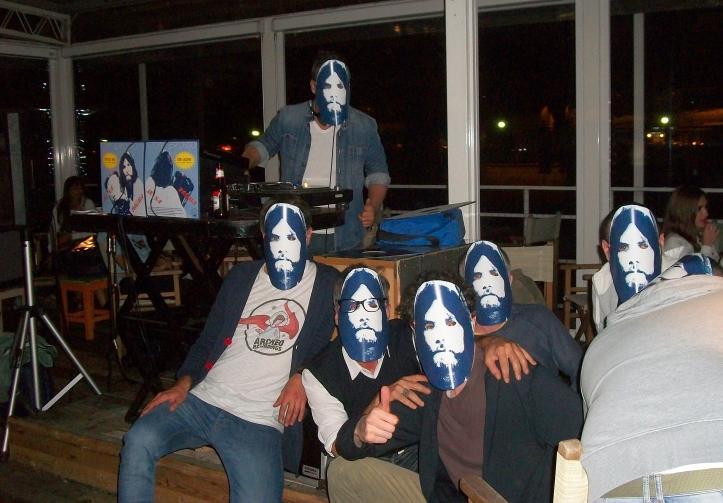 Manu's DJ crew in Toni masks
